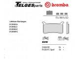 07GR90SA Brembo Bremsbelag - SA Sinter Road