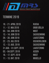 Moto Raching School Termine 2019